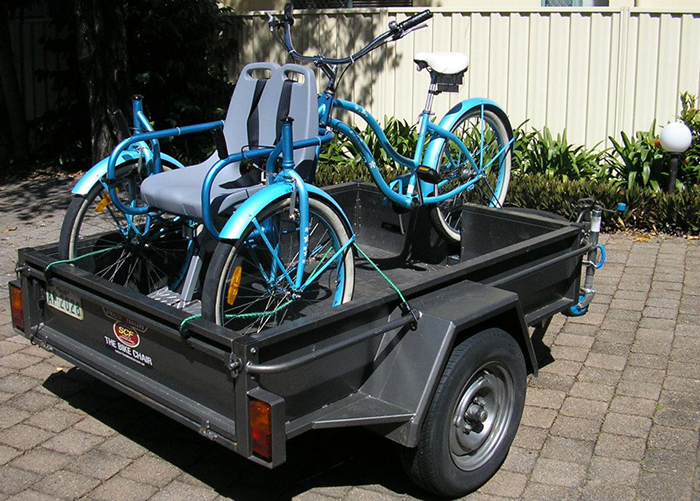 wheelchair and bicycle pedaled vehicle