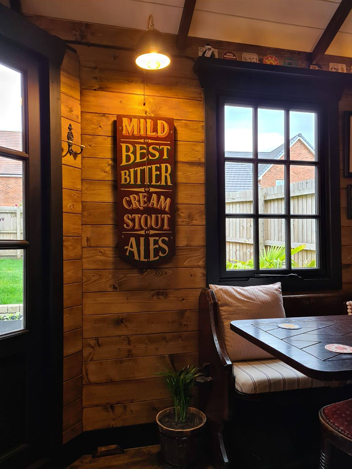 wigan couple mini pub interior wall lighting