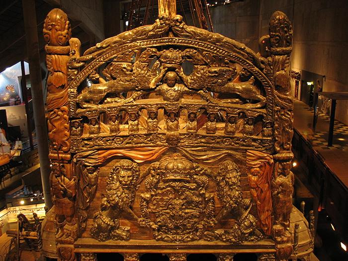 17th century warship vasa transom