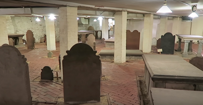 1800s cemetery discovered in the basement of a building