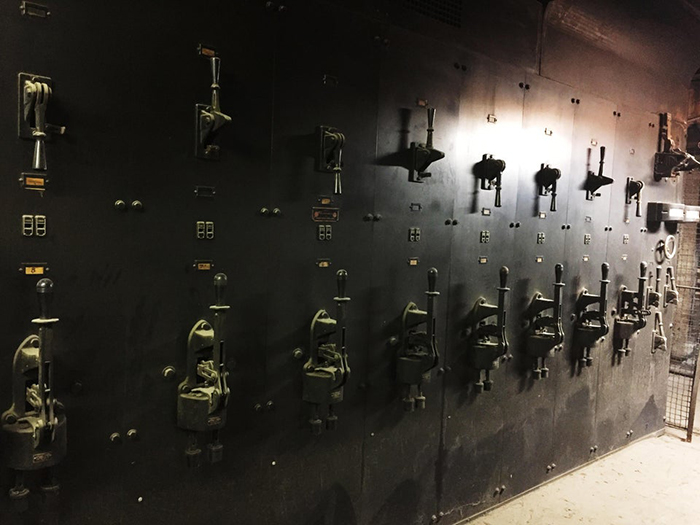 1909 electrical switches found in a building