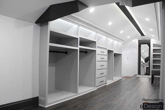 Attic Wardrobe Empty Cabinets