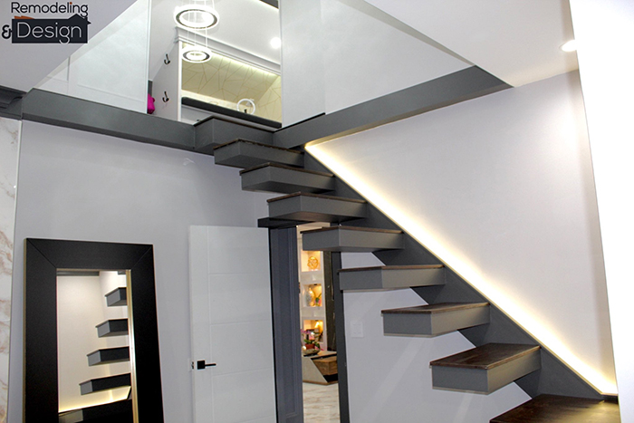 Closet Transformation Remodeled Stairs
