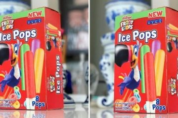 Froot Loops Ice Pops