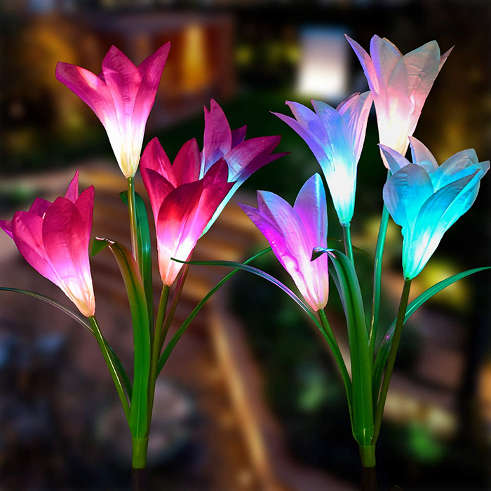Light-up Faux Lily Decoration for Garden