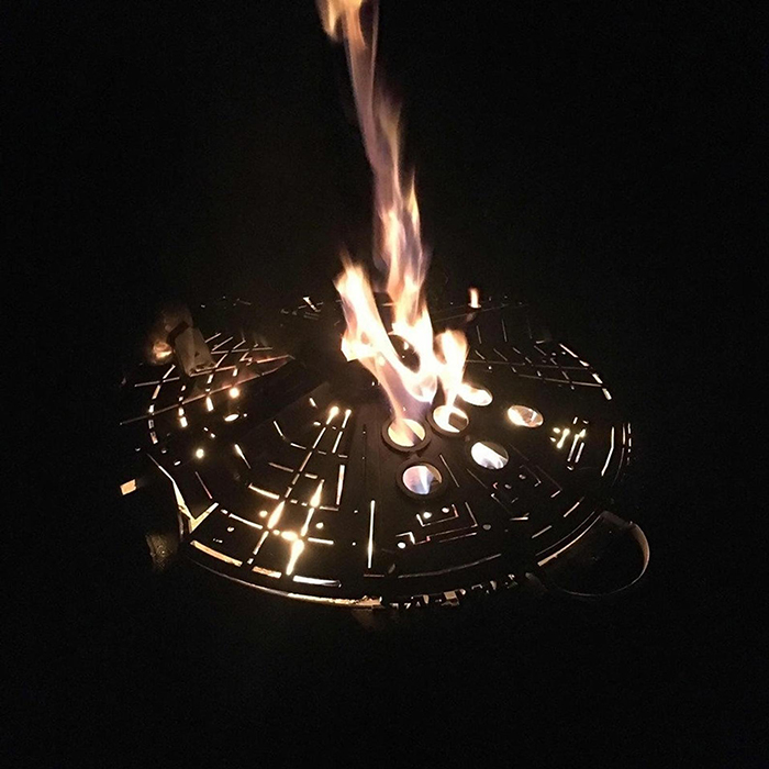 Millennium Falcon-Inspired Fire Pit