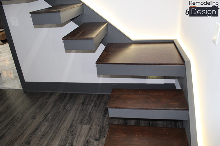 Renovated Stairs to the Attic