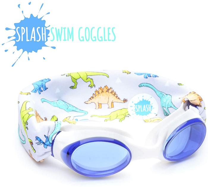 Splash Swim Goggles Dinosaur Print