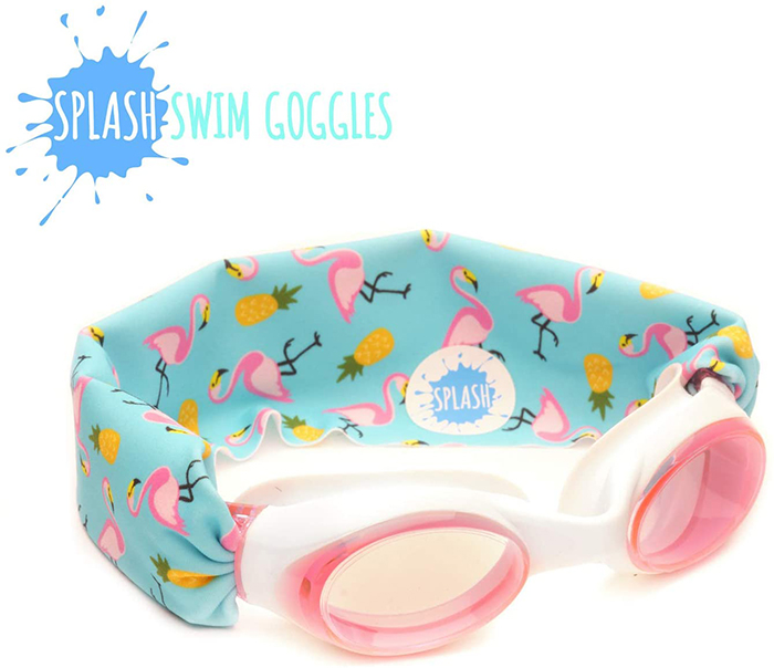 Splash Swim Goggles Flamingo and Pineapple Print