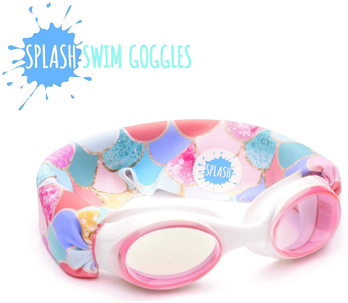 Splash Swim Goggles Mermaid Scales Print