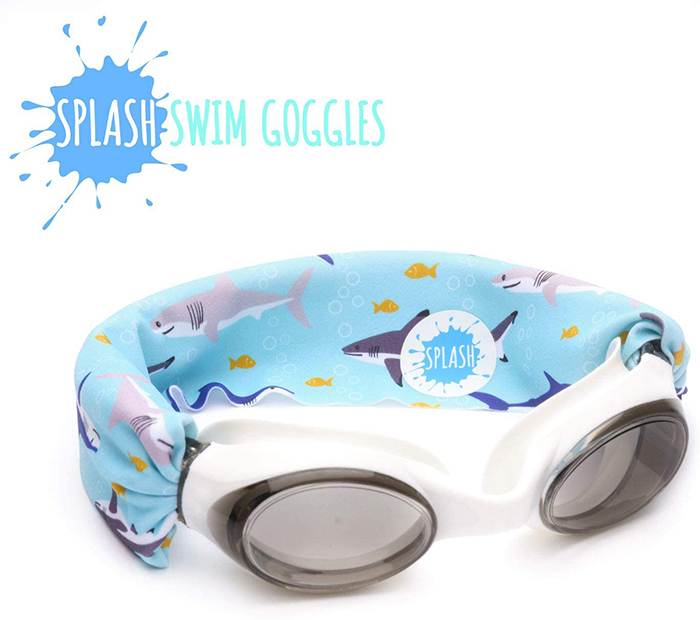 Splash Swim Goggles Shark Print