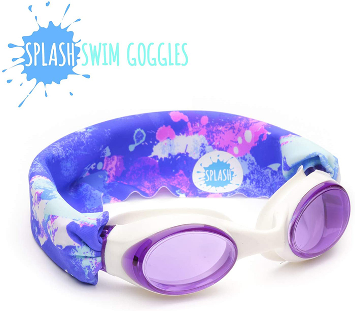 Splash Swim Goggles Unicorn Splashes Print