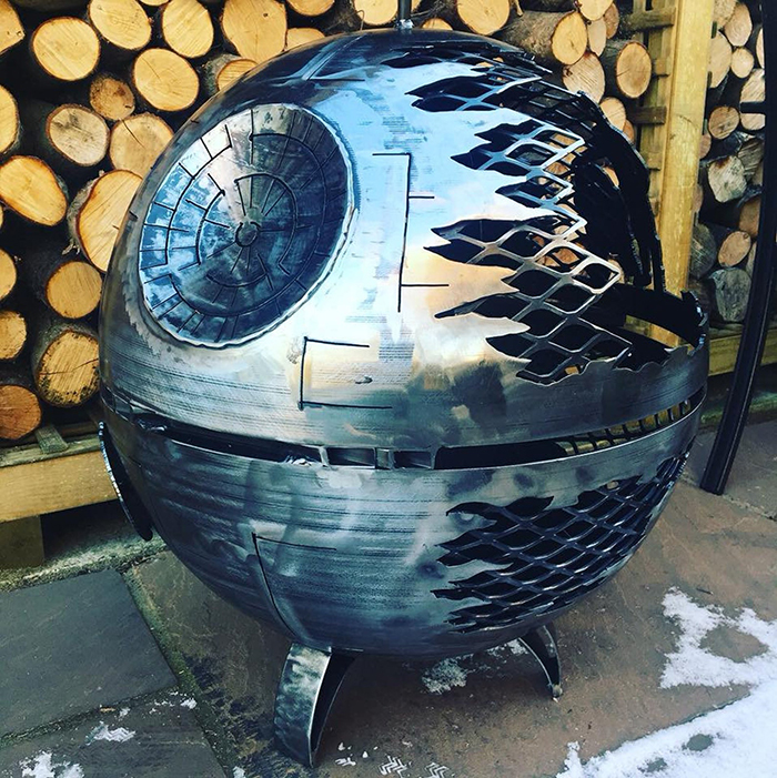 Star Wars Death Star Wood Burner