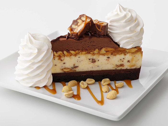 The Cheesecake Factory Snickers Cheesecake
