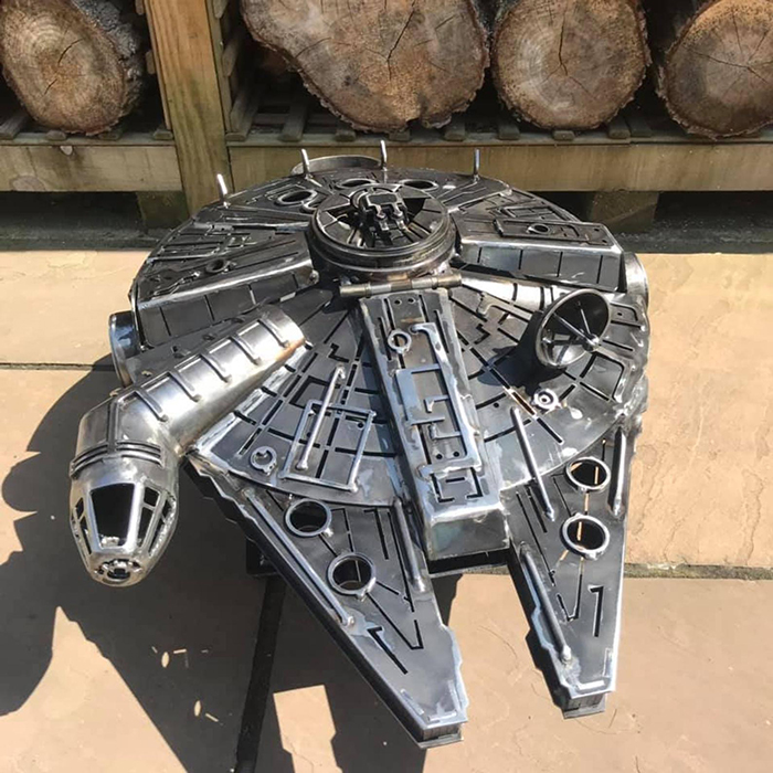 Wood Burner Based on Star Wars Millennium Falcon