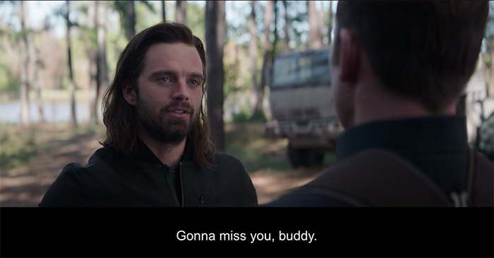 avengers endgame bucky says farewell to captain america