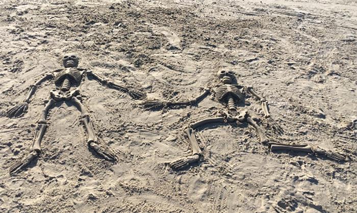 bag o bones beach skeleton sand molds
