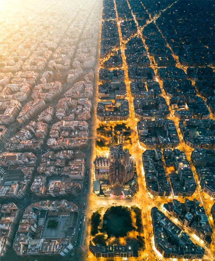 barcelona day and night shots