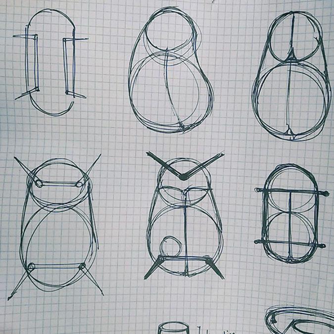 beetle-inspired coffee table sketch