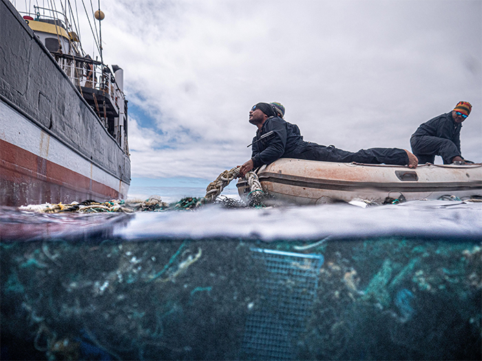 biggest ocean plastic cleanup ghost net recovered