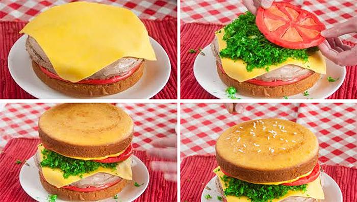 cheeseburger ice cream cake recipe