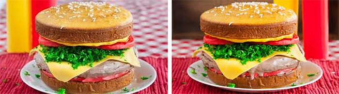 cheeseburger ice cream cake