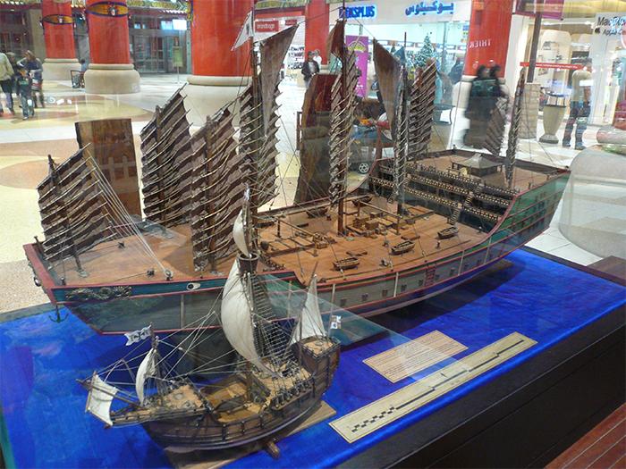 chinese explorer vs columbus ships
