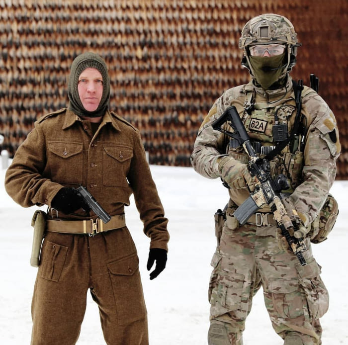 comparison images norwegian soldier