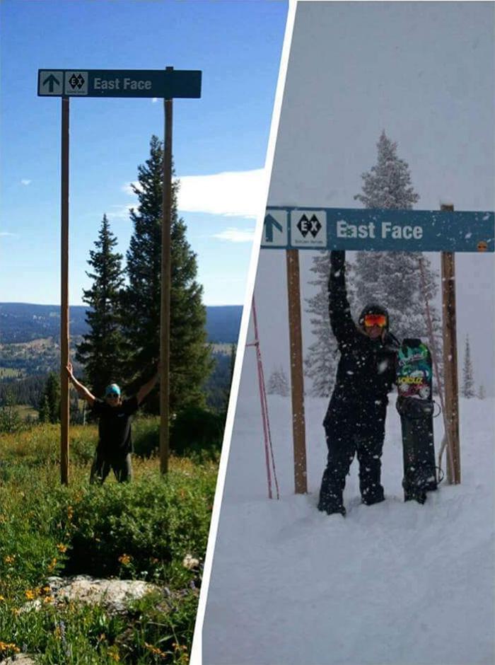 comparison images sign winter