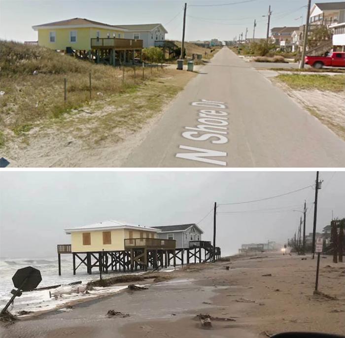 comparison images surf city nc after florence