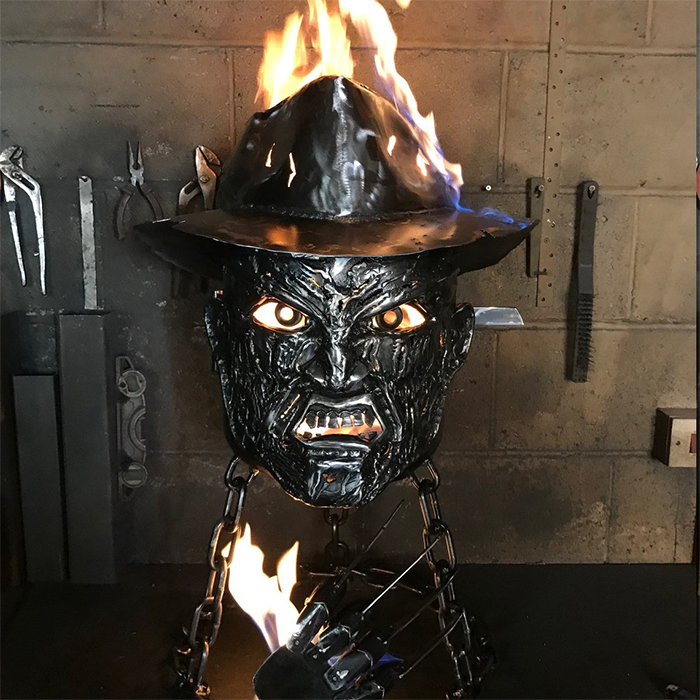 creepy mild steel wood burner