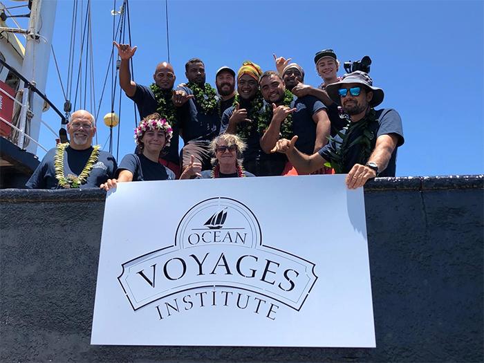 crew ocean plastic cleanup expedition