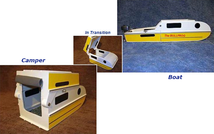 diy boat converts into micro-camper
