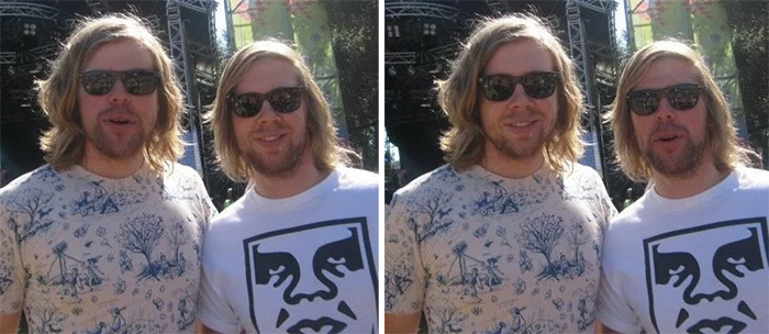 doppelgangers at the music festival