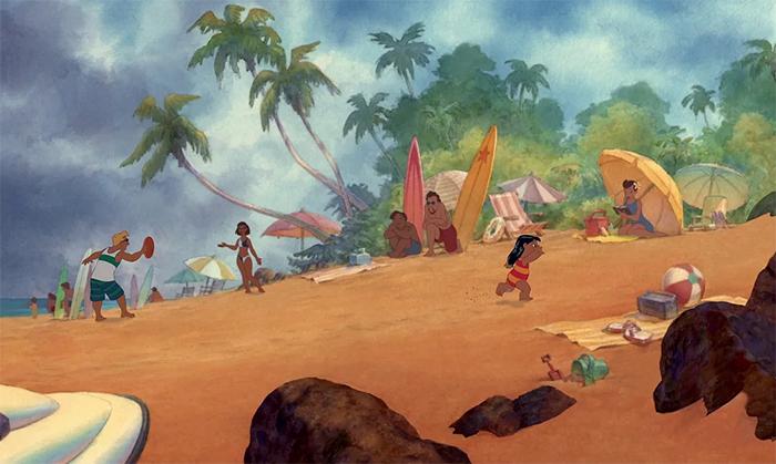 film trivia lilo and stitch watercolor background