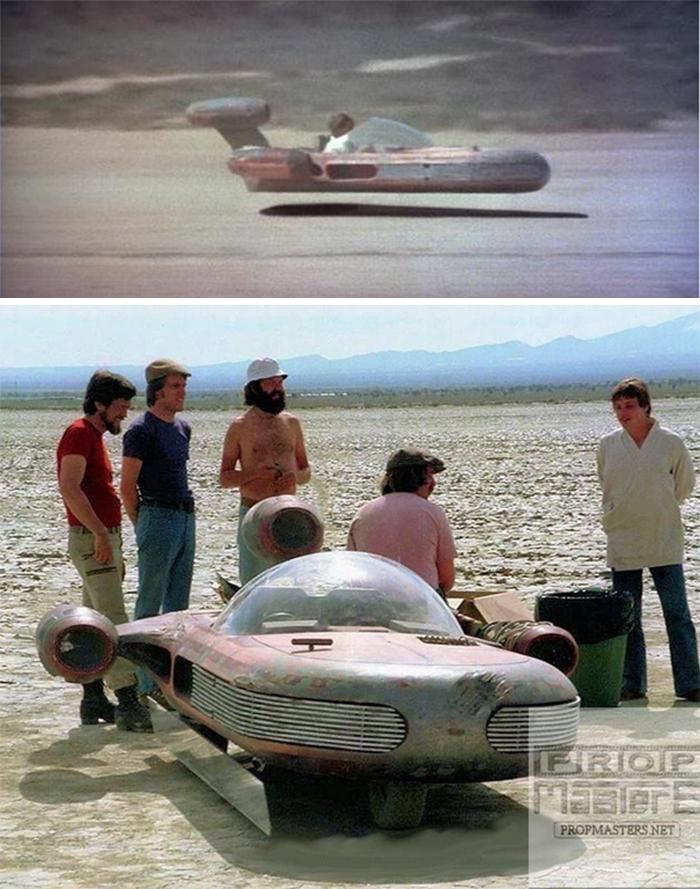 film trivia star wars floating speeder
