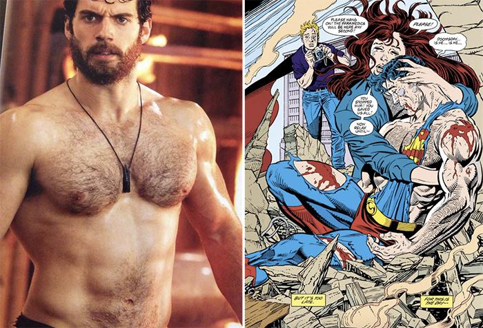 film trivia superman chest hair