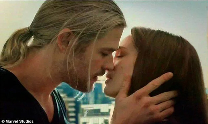film trivia thor kissing scene