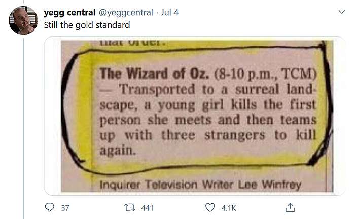 filmmaker asks people to make one line movie plot comment yegg