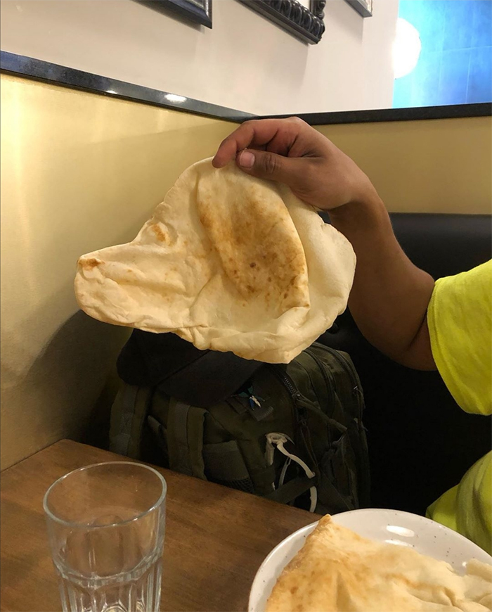 flat bread looks like a dog