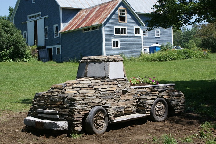 full scale sculptural replica vintage truck