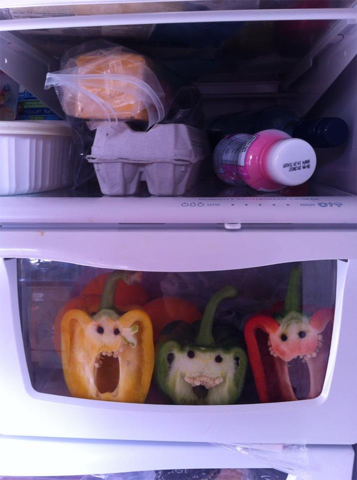 funny pareidolia bell peppers screaming