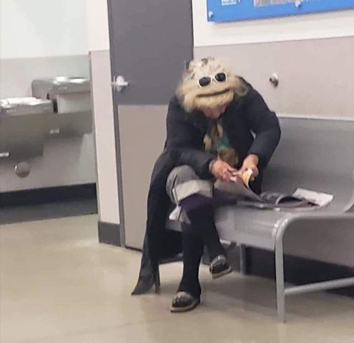 funny pareidolia muppet lady
