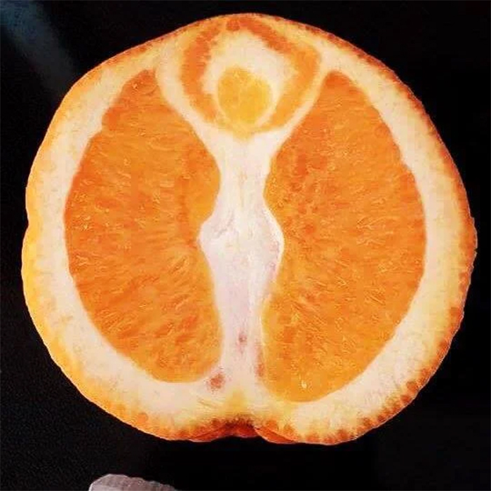 goddess inside an orange