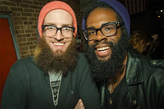 guy meets his black version