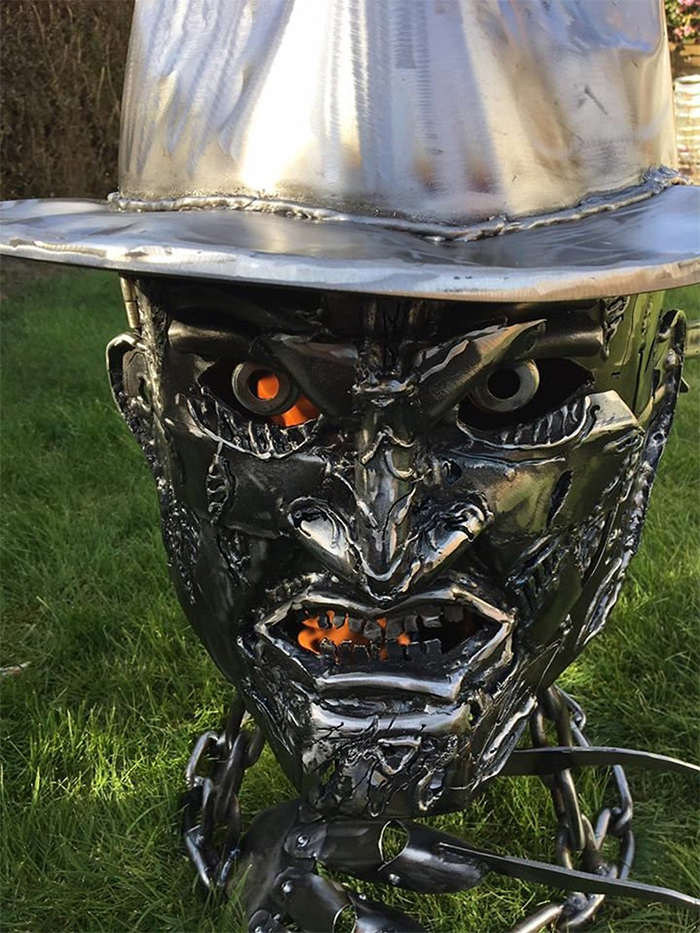 halloween-inspired wood burner