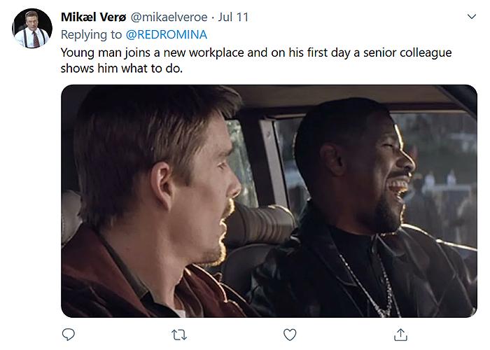 hilarious movie plot comment mikael