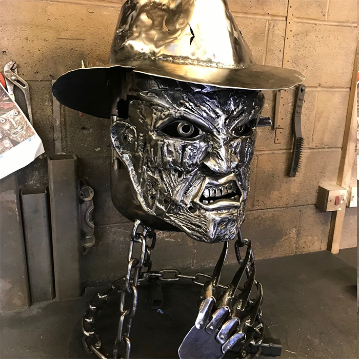 horror movie inspired wood burner