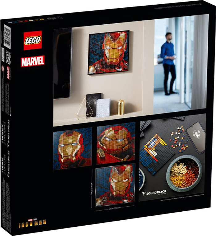 immersive mosaic portrait iron man