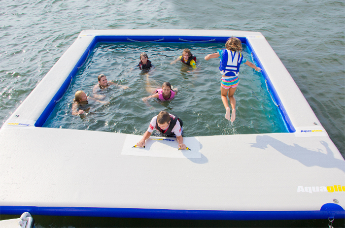 inflatable ocean pools with large deck